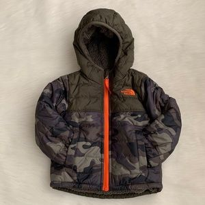 The North Face Toddler Camo Reversible Puffer Coat